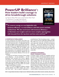 Download How leaders build Courage to PowerUP Brilliance™ (Mobius White Paper)