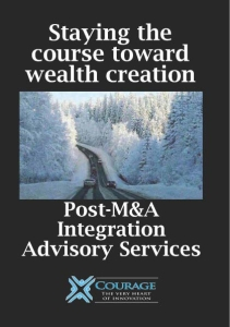 Download White Paper: Stay the Course toward Wealth Creation: Post M&A Advisory Services